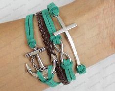 anchor, cross and infinity bracelets