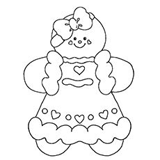 top 25 free printable christmas coloring pages online - Gingerbread Coloring Pages