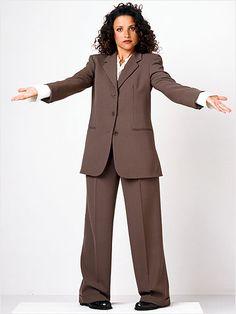 Elaine rocking the Power Suit
