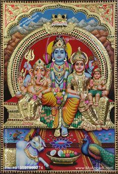 Lord Shiva Statue, Hindu Statues, Tanjore Painting, Mother Goddess, Buddha Art, Pooja Rooms, Hindu Art, Indian Gods, Online Painting