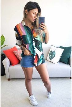 Tumblr Outfits, Swag Outfits, Short Outfits, Look Con Short, Ootd Fashion, Womens Fashion, Moda Vintage, Hot Pants, Casual Looks