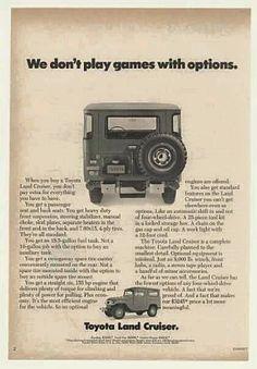 Toyota Land Cruiser advertisement, FJ40