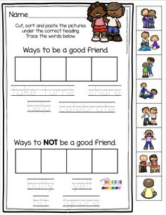 FRIENDSHIP FREEBIES – social skills – classroom behavior – how to be a good friend free activities FRIENDSHIP FREEBIES – social skills – classroom behavior – how to be a good friend free activities,Friendship. Preschool Social Skills, Social Emotional Activities, Social Skills Lessons, Social Skills For Kids, Social Skills Activities, Kindergarten Activities, Activities For Kids, Group Activities, Life Skills