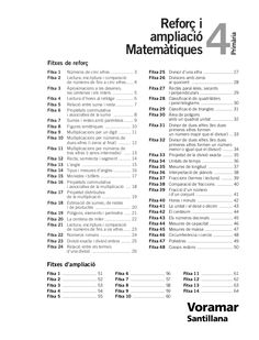 Primària 4 Reforç i  ampliació  Matemàtiques  Fitxes de reforç  Fitxa 1 Números de cinc xifres .................. 3  Fitxa... Math Exercises, Math Class, Math Test, Math Books, Music Classroom, Preschool Math Activities