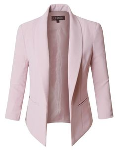 Fully Lined Sleeve Open Front Tuxedo Blazer Jacket with Pocket - Women Blazer Jackets - Ideas of Women Blazer Jackets - Womens Fully Lined Sleeve Open Front Tuxedo Blazer Jacket with Pocket Blazers For Women, Jackets For Women, Women Blazer, Trendy Outfits For Teens, Stylish Outfits, Business Professional Outfits, Classic Tuxedo, Casual Skirt Outfits, Girly Outfits