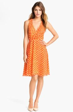 Vince Camuto Dot Faux Wrap Dress available at #Nordstrom