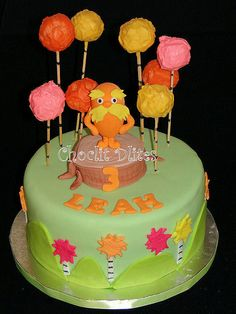 Leah's Lorax Cake by Choclit D'lites, via Flickr