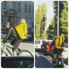 No problem in #prague :-D #messengers #bike #biking