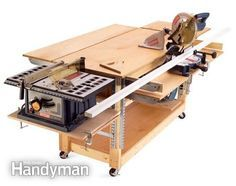 rollaround workbench - especially like the fact that the entire bench is tablesaw outfeed