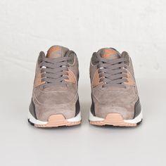 Damen Nike Air Max 90 Leather Iron/rote Bronze-Sail