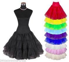 New-Short-Tutu-Vintage-Petticoat-Crinoline-Underskirt-Wedding-Dress-Skirt-Slips