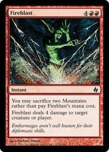 Magic: the Gathering - Fireblast - Premium Deck Series Fire & Lightning - Foil
