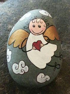 Výsledok vyhľadávania obrázkov pre dopyt painted stones + angels