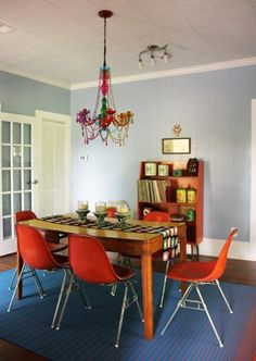 Name: Elise Becker Location: Franklin, North Carolina Size: 1,200 square feet Years lived in: 6 months; owned An old house with lots of original charm is now a groovy and colorful dreamboat filled with vintage objects and funky heirlooms. If you thought the days of orange, green, and yellow were long gone, a tour of this sweet sixties throwback will show you that they still live on, and are as fantastic as ever.