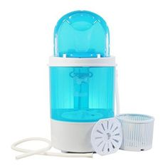 Bismi Mini Portable Washing Machine & Spin Dry 6.6 Lbs Capacity Compact Laundry Washer for Clothes, Garments, Towels (Blue)