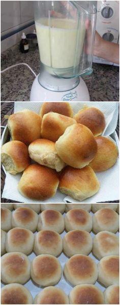 Depois que aprendi a fazer esse pãozinho de liquidificador eu nunca mais voltei à padaria. É simplesmente DIVINO, rápido, prático e muito fácil. A família toda adora!  #paes #paofacil #paorapido #cafedamanha