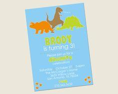 Dinomite Dinosaur Birthday Party Invitation by ShopCookieCouture, $9.50