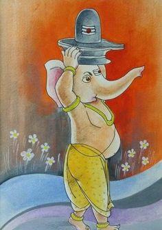 Ganesha Sketch, Ganesha Drawing, Lord Ganesha Paintings, Ganesha Art, Shri Ganesh, Hanuman, Krishna, Ganesh Images, Ganesha Pictures