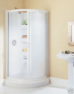 american shower bath round corner bathroom shower stall enclosure white ebay