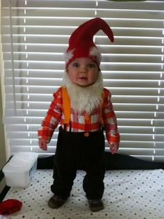 cute baby costume!! Garden Gnome.Yes