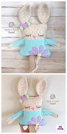 Easter Crochet Patterns, Crochet Bunny Pattern, Crochet Patterns Amigurumi, Crochet Blanket Patterns, Crochet Yarn, Crochet Toys, Free Crochet, Crochet Animals, Amigurumi Free
