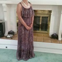 SALE20% Bundle discount Purple floral maxi dress Sweet chiffon floral maxi. Perfect for a summer party. H&M Dresses Maxi