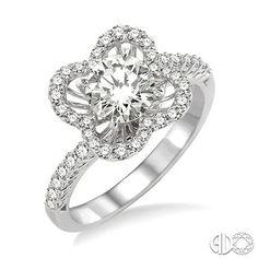 3/8 Ctw Diamond Semi-Mount Ring in 14K White Gold