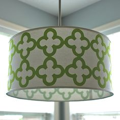 Ordinaire Quatrefoil Drum Shade Pendant Light