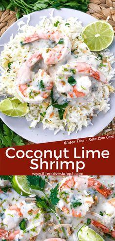 Lime Shrimp Recipes, Seafood Recipes, Vegetarian Recipes, Cooking Recipes, Healthy Recipes, Scd Recipes, Seafood Appetizers, Appetizer Recipes, Shrimp Coconut Milk