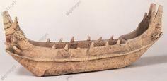 Model ship, haniwa ritual pottery, Japan. Japanese Civilisation, Kofun period…