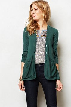 Sweep-Front Cardigan #anthropologie