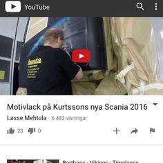 Över 6000 tittare på youtube..Tackar!  Over 6000 views on youtube..Thanks! Motivlack på Kurtssons lastbil..#youtube  Link in profile.. https://www.youtube.com/watch?v=pnwtJnX4dzI&sns=em #motivlack #scania #iwata #anest_iwata #anest_iwata_sweden #glasurit #basfrefinish #3M #lastbilslackering #gripen #lackering #lastbilslack #smålandsstenarsbillackering #lassemehtola #kurtssons