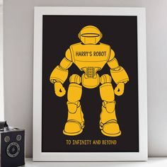 Personalised Robot Print – Little Pieces
