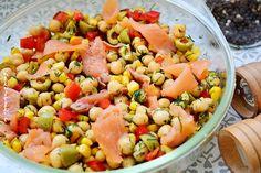 Salata de naut cu somon afumat Cooking Recipes, Healthy Recipes, Healthy Food, Diy Food, Food And Drink, Mexican, Ethnic Recipes, Salads, Bedroom