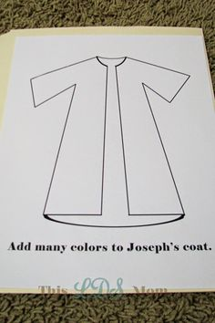 This LDS Mom: Scripture Heroes: Joseph Sold into Eygpt Daycare Crafts, Preschool Crafts, Toddler Bible Lessons, Coat Of Many Colors, Bible Crafts For Kids, Purple Rooms, Color Crafts, Bible Stories, Crafts To Sell