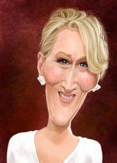 Ed van der Linden: Meryl Streep. Meryl Streep for Caricaturama Showdown on FB Meryl Streep, Cartoon Faces, Funny Faces, Cartoon Art, Drawing Cartoons, Funny Caricatures, Celebrity Caricatures, Sketch Manga, Steven Seagal