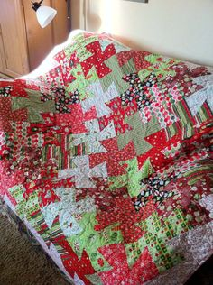 Twist Christmas quilt