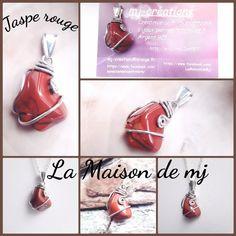 Pendentif Jaspe rouge Bijou Jaspe rouge  Pendentif pierre naturelle
