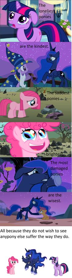 Other than the pinkie pie thing, yes. I think she was just bored with her life, and she rarely frowns now anyway