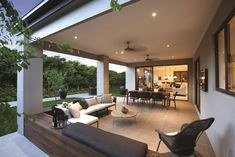 I just viewed this inspiring Drysdale 30 Alfresco image on the Porter Davis website. Check it out yourself and get inspired! - All For Garden House Design, House, Indoor Design, Alfresco Designs, New Home Designs, Home, Outdoor Rooms, House Exterior, New Homes
