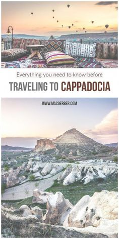Cappadocia is one of the most beautiful and stunning places I've ever been to and should be on every traveler's bucket list, especially when traveling to Turkey. With its incredible nature and history, it is one of the best destinations to visit. Europe Destinations, Europe Travel Tips, New Travel, European Travel, Asia Travel, Solo Travel, Travel Guides, Places To Travel, Places To Visit