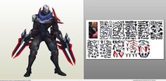 Papercraft .pdo file template for League of Legends - Project Zed.
