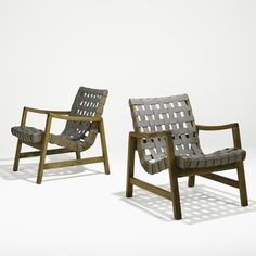 976: JENS RISOM; Pair of lounge chairs