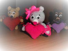 Teddy bear with heart Free pattern used: https://amigurumi.today/amigurumi-teddy-bear-with-a-heart-crochet-pattern/