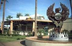 Hard Rock Cafe - Phoenix, AZ. I remember eating here with my family. We ate at one every city we could. Phoenix was hot, but lovely!