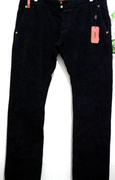 Missoni Mens Black Velvet Casual Pants Size 40 100% Cotton Made in Italy NEW #Missoni #CasualPants