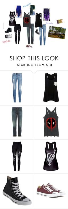 """""""Normal Day of Recording Stunts with the TNT(orTit)  team"""" by music-fmx-fanatic ❤ liked on Polyvore featuring STELLA McCARTNEY, Solid & Striped, 7 For All Mankind, Fifth Sun, WithChic, Converse and Zara"""