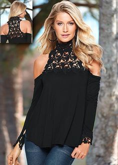 Cover me in crochet! Create a sexy day or night look with one of our favorite tops this fall! You'll be sure to get a second glance! Available in sizes XS-XL!