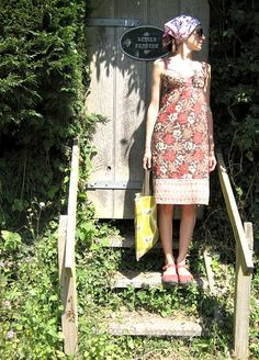 """dottie angel"""" :: an artist whose whimsical spirit is evident in all her her pieces! Quirky Fashion, Vintage Fashion, Casual Dresses, Summer Dresses, Sack Dresses, Dottie Angel, Girl Fashion, Fashion Outfits, Fashion Ideas"""