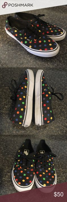 VANS Polka Dot Multi Color Sneakers Excellent Preowned Condition with light wear on the whites & soles. ♥️ Men's Size 8.5 Vans Shoes Sneakers
